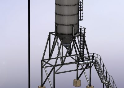 Silo with structure