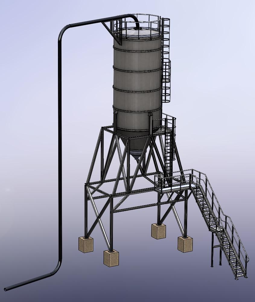 XYZ engineering proyectos de ingeniería Silo con estructura