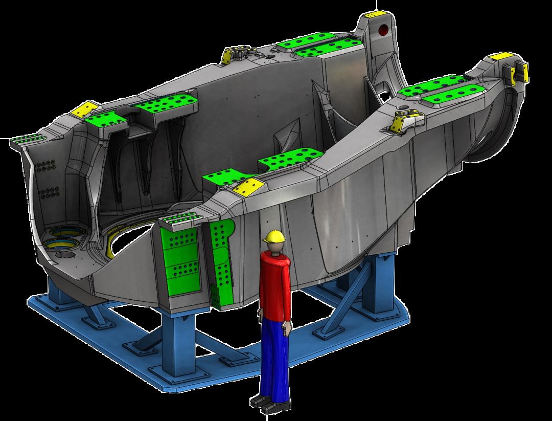 XYZ engineering proyectos de ingeniería diseño de utillajesÚtil pieza elóica