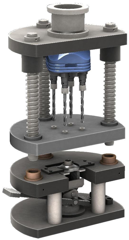 XYZ engineering proyectos de ingeniería diseño de utillajeUtillaje con cabezal multiple