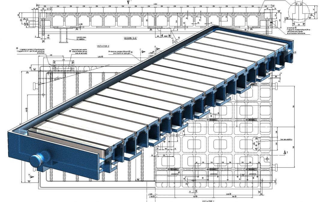 3D conversion. Manufacturing drawing.