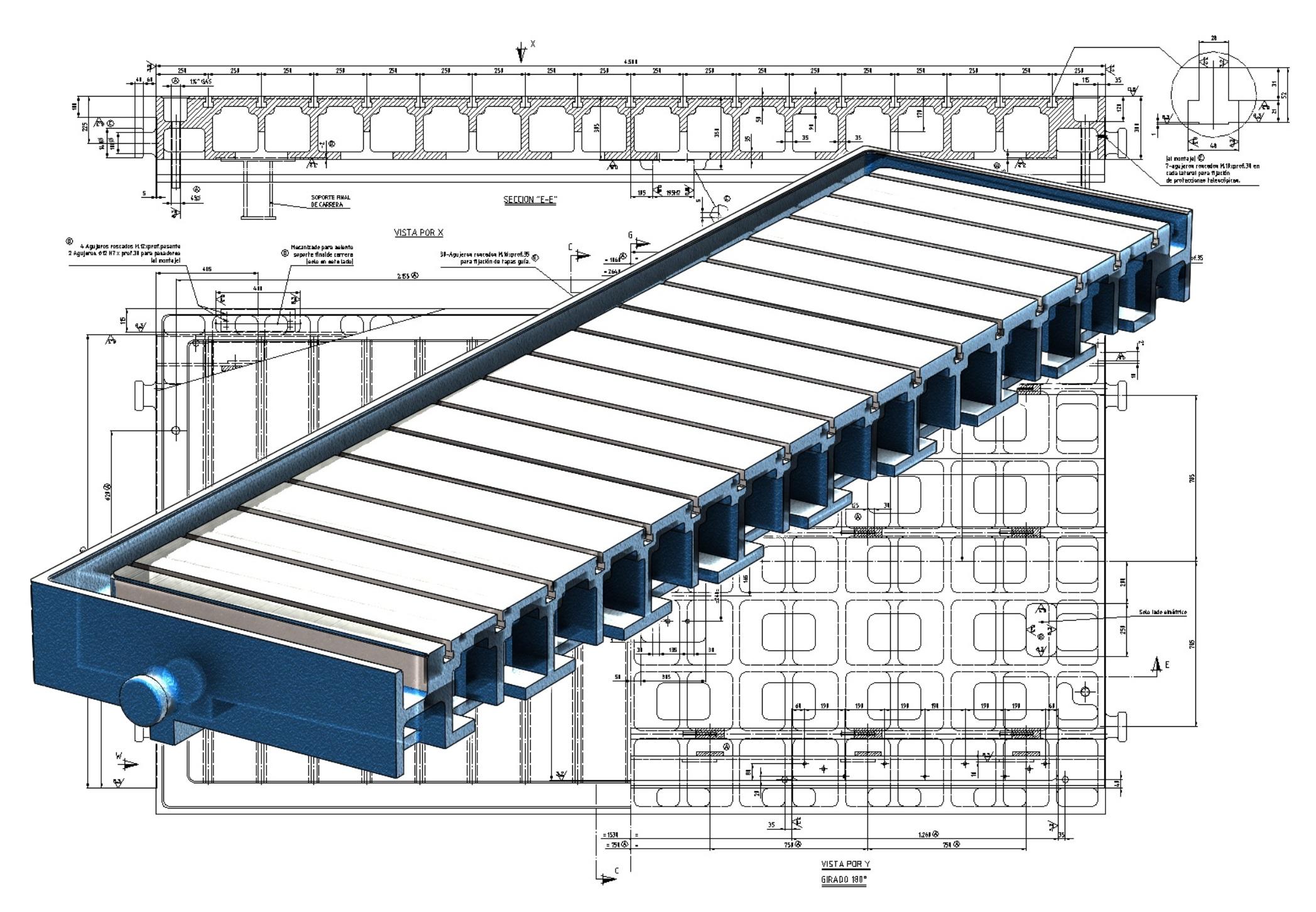 XYZ engineering proyectos de ingeniería conversión plano 3D