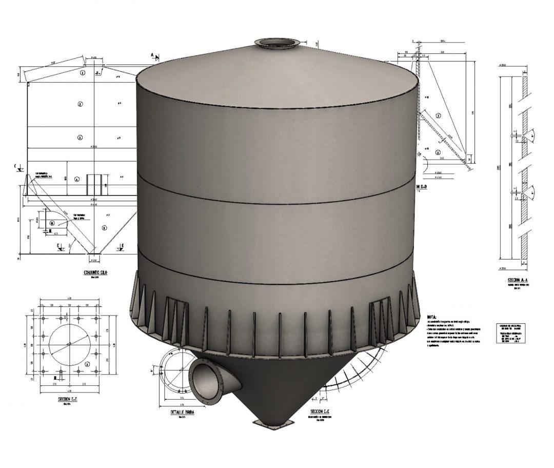 XYZ engineering proyectos de ingeniería modelado de silo filler