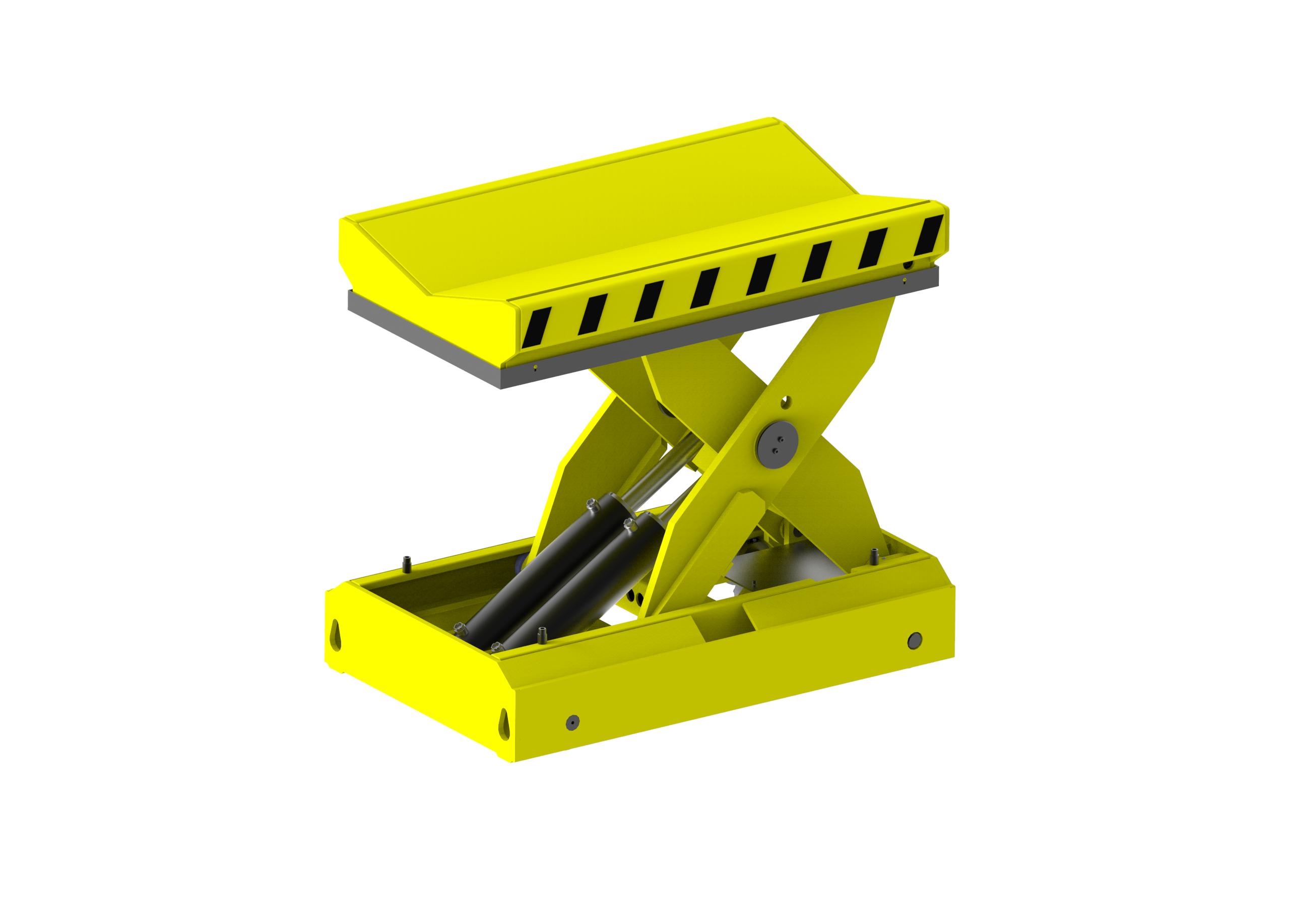 Carro transportador para elevación y posicionamiento de bobinas.