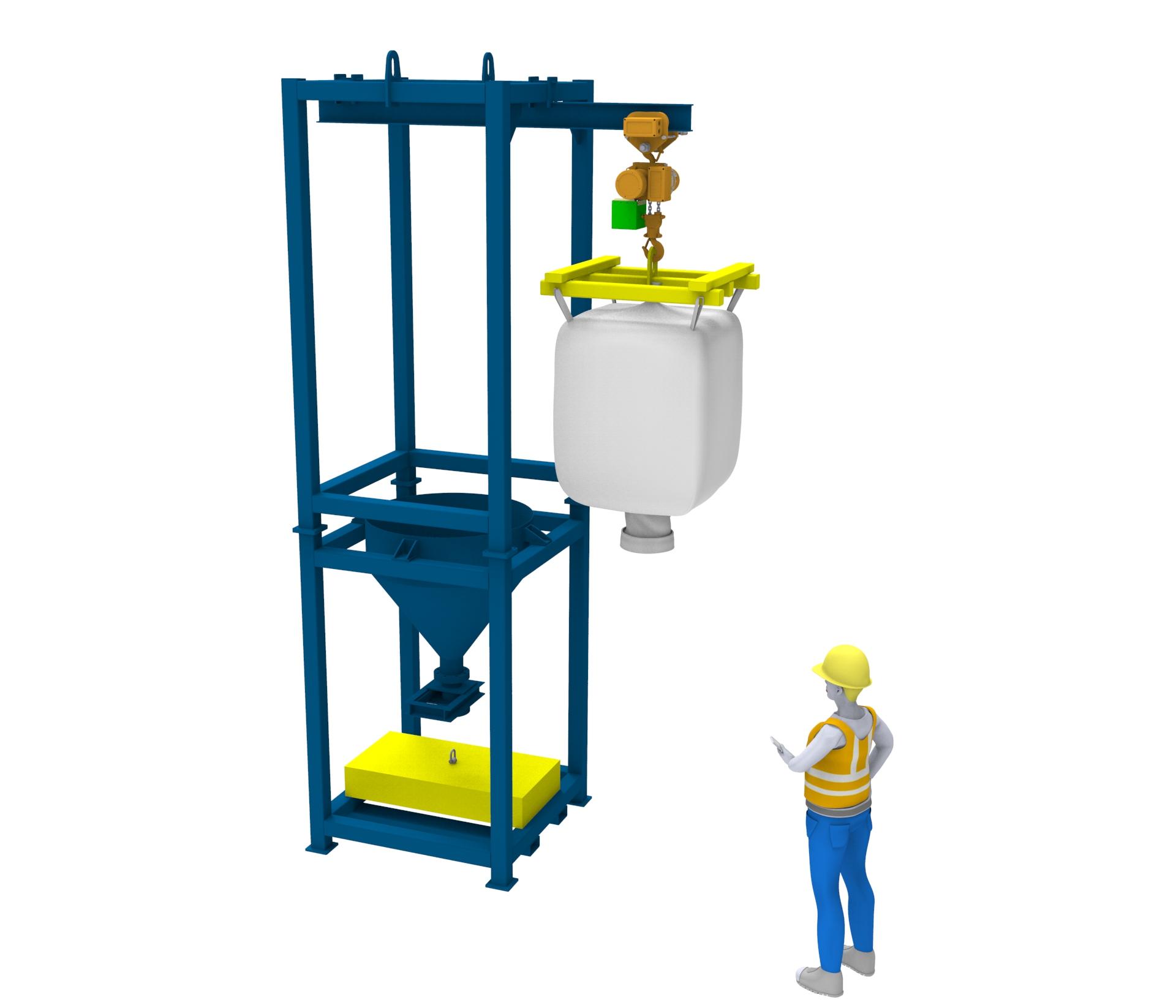 Volteador para bobinas con capacidad de 5 toneladas.